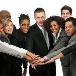 A diverse business team